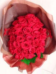 赤い薔薇50本をプリザーブドフラワーに♪