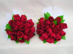 紅薔薇のプリザーブドフラワーブーケ風アレンジ