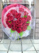 真紅の薔薇をプリザーブドフラワーに♪