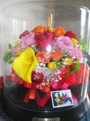 長崎県五島鐙瀬(アブンゼ)の山本様 :花束をプリザーブドフラワーに!