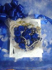 生花の花束をプリザーブドに♪