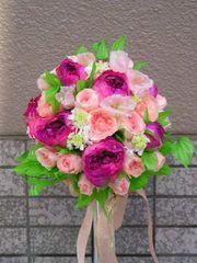 ブライダルブーケ生花をプリザーブドフラワーに♪
