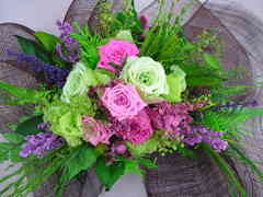 薔薇と草花のプリザーブドフラワーリース♪ 花の部分