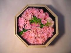 お見舞いのプリザーブドフラワー「桜の桐箱アレンジ」♪