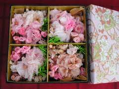 桜のぷり花重箱♪