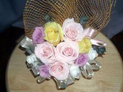 岐阜県の柘植様:結婚式の花束をプリザーブド加工♪
