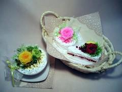 ぷり花ケーキコース≪�≫で作る作品